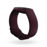 Product render of Fitbit Charge 4, dramatic view, in Rosewood.