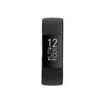Product render of Fitbit Charge 4, front view, in Black.