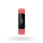 Product render of Fitbit Inspire 2, front view, in Desert Rose and Black.