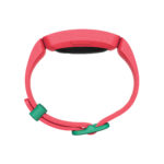 Product render of Fitbit Ace 2, profile view, in Watermelon and Teal