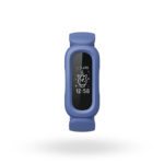 Product render of Fitbit Proxima Kids, front view, in Cosmic Blue/Astro Green.