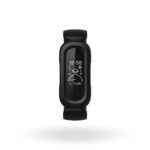 Product render of Fitbit Proxima Kids, front view, in Black/Sport Red.